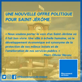 UN NOUVEAU PARTI POLITIQUE VERRA LE JOUR À SAINT-JÉRÔME