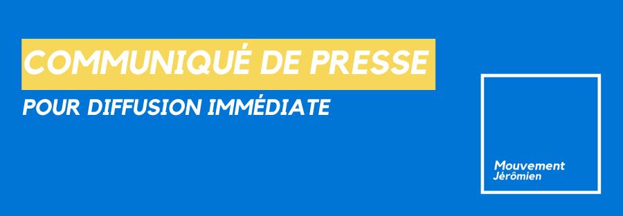 « Écoquartier » dans les secteurs du Haut Saint-Antoine et du Lac Jérôme : L'entente entre la Ville et le consortium doit être rendue publique, selon le Mouvement Jérômien